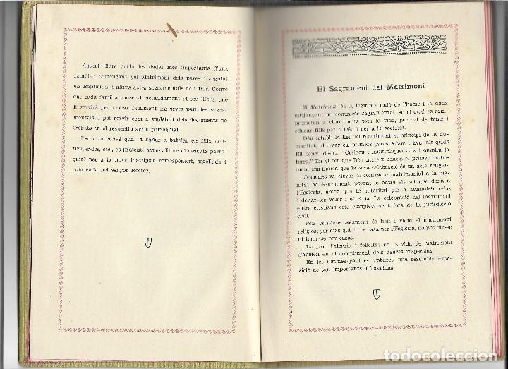 Libros antiguos: LLIBRE DE LA FAMILIA - FOMENT DE PIETAT - BARCELONA - 1936 - Foto 4 - 107859463
