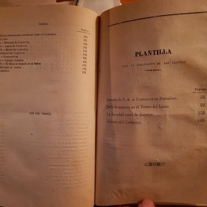 Libros antiguos: EL CARNAVAL DE BARCELONA EN 1860. ..CLAVÉ, J. A. y TORRES, J. M. -1860. - Foto 9 - 91026070