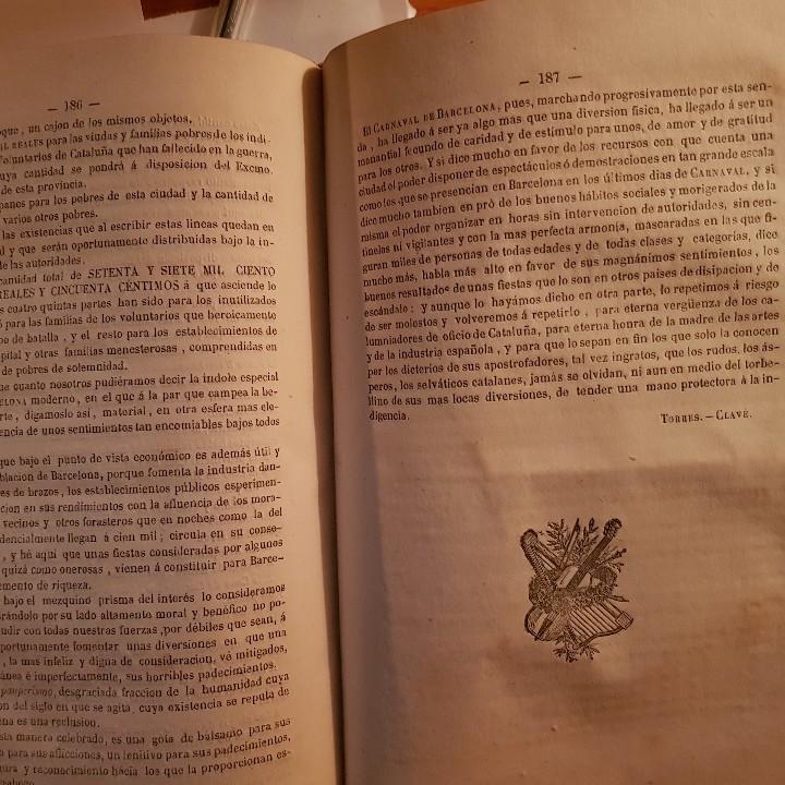 Libros antiguos: EL CARNAVAL DE BARCELONA EN 1860. ..CLAVÉ, J. A. y TORRES, J. M. -1860. - Foto 10 - 91026070