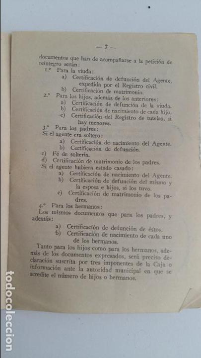 Libros antiguos: CAJA DE SOCORROS Y AHORROS DE AGENTES FERROVIARIOS. REGLAMENTO. 1929 - Foto 2 - 108043775