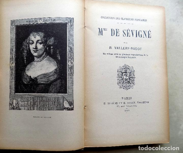 Libros antiguos: MADAME DE SEVIGNE. R. VALLERY- RADOT. LIBRERIA GUTENBERG. CLASSIQUES POPULAIRES. 1889. PARIS - Foto 2 - 108049123