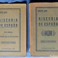 Libros antiguos: HISTORIA DE ESPAÑA. TOMOS 1 Y 2. ANTONIO JAÉN. SEVILLA 1926.. Lote 108050459