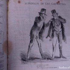 Libros antiguos: COLECCIÓN DE PERIODICOS POLITICO SATIRICOS, BARCELONA 1861-69. Lote 108077991