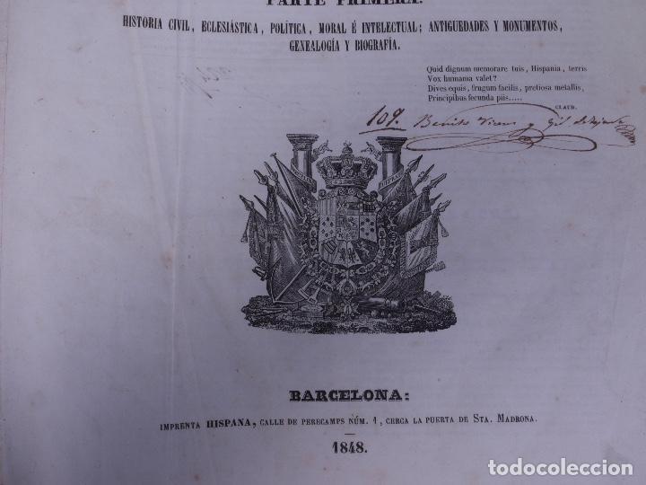 Libros antiguos: ATLAS GEOGRAFICO, HISTORICO Y ESTADISTICO. ESPAÑA Y SUS POSESIONES DE ULTRAMAR, 1848 - Foto 3 - 108081031