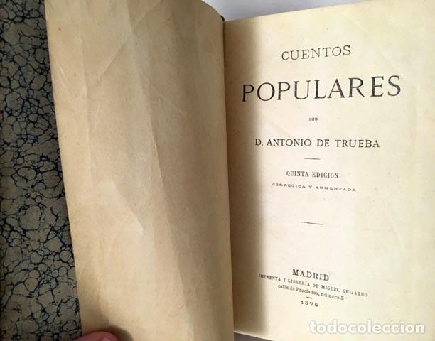 Libros antiguos: Antonio de Trueba : Cuentos populares. (M., 1875) - Foto 2 - 108181119