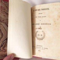 Libros antiguos: J. ZORRILLA : EL ECO DEL TORRENTE (DRAMA EN TRES ACTOS). M., 1842. IMPRENTA DE YENES. HOLANDESA. Lote 108182123