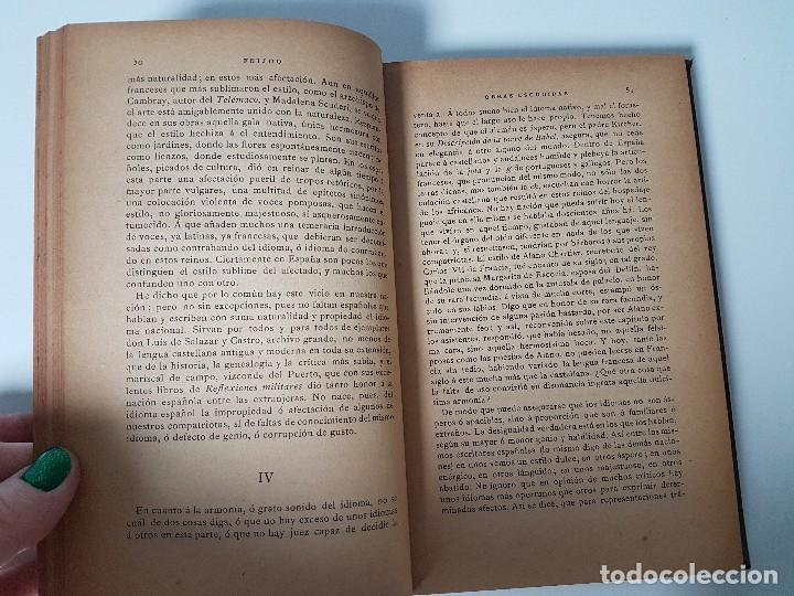 Libros antiguos: FR. BENITO J. FEIJOO ( AÑO 1884 ) - Foto 3 - 108256819