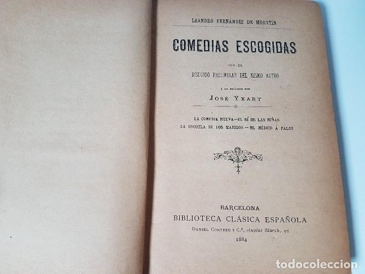 Libros antiguos: COMEDIAS ESCOGIDAS ( LEANDRO FERNÁNDEZ DE MORATÍN ) AÑO 1884 - Foto 2 - 108257203