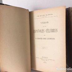 Libros antiguos: QUINTANA : VIDAS DE LOS ESPAÑOLES CÉLEBRES. (M. 1879. 2 TOMOS. HOLANDESA ÉPOCA . Lote 108285207