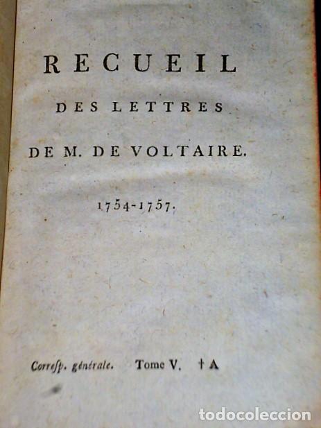 Libros antiguos: RECUEIL DES LETTRES DE M. DE VOLTAIRE 1754- 1757 - Foto 3 - 108289315