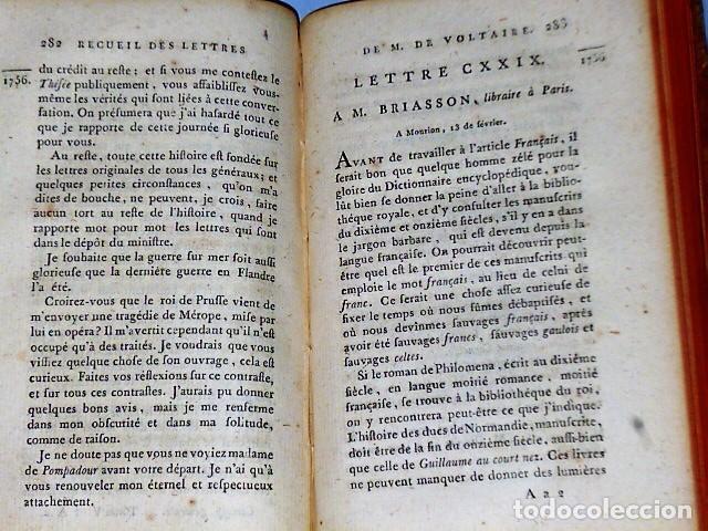 Libros antiguos: RECUEIL DES LETTRES DE M. DE VOLTAIRE 1754- 1757 - Foto 5 - 108289315