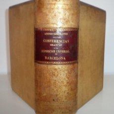 Libros antiguos: ATENEO BARCELONES AÑO 1890 - CONFERENCAS EXPOSICION UNIVERSAL - PERGAMINO.. Lote 108307199