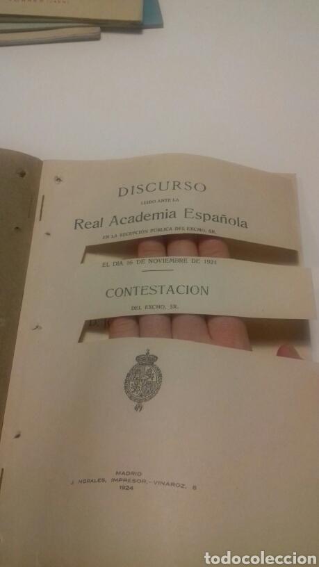 Libros antiguos: Discurso José Francos Rodríguez. 1924. Contestación Carlos M. Cortezo - Foto 2 - 108343874