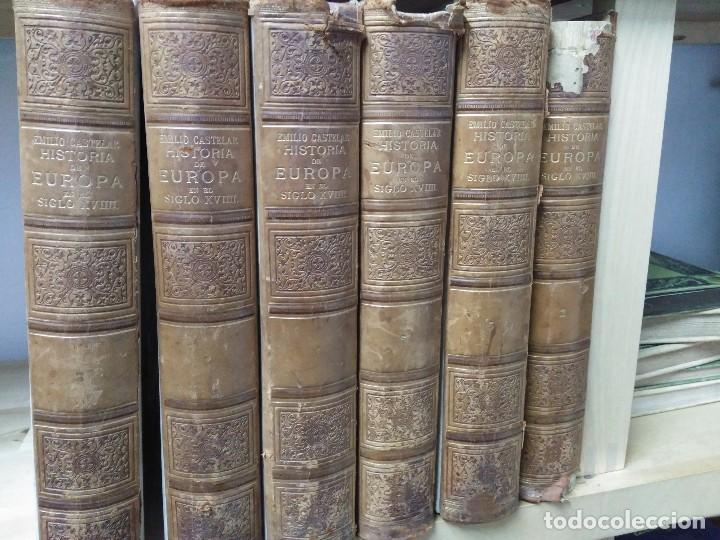 Libros antiguos: HISTORIA DE EUROPA EN EL SIGLO XVIIII 1896 EMILIO CASTELAR COMPLETA - 6 TOMOS - Foto 2 - 108572627