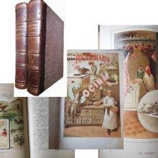 Libros antiguos: DICCIONARIO GENERAL DE COCINA. 2 VOLÚMENES. MURO ÁNGEL. 1892. Lote 108703527