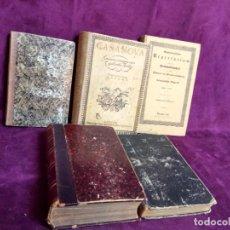 Libros antiguos: LOTE DE 5 LIBROS ALEMANES DEL SIGLO XIX, VARIAS TEMÁTICAS, ENCUADERNACIÓN EDITORIAL. Lote 108705351