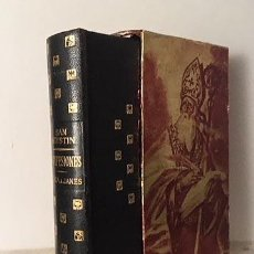 Libros antiguos: SAN AGUSTIN : CONFESIONES. MEDITACIONES. MANUAL. (ENCUAD PIEL CON ESTUCHE) . Lote 108717883