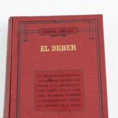 Libros antiguos: L-1115. EL DEBER, SAMUEL SMILES. 1935.. Lote 108885455
