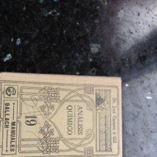 Libros antiguos: ANÁLISIS QUÍMICO 19 MANUALES GALLACH. Lote 108898959