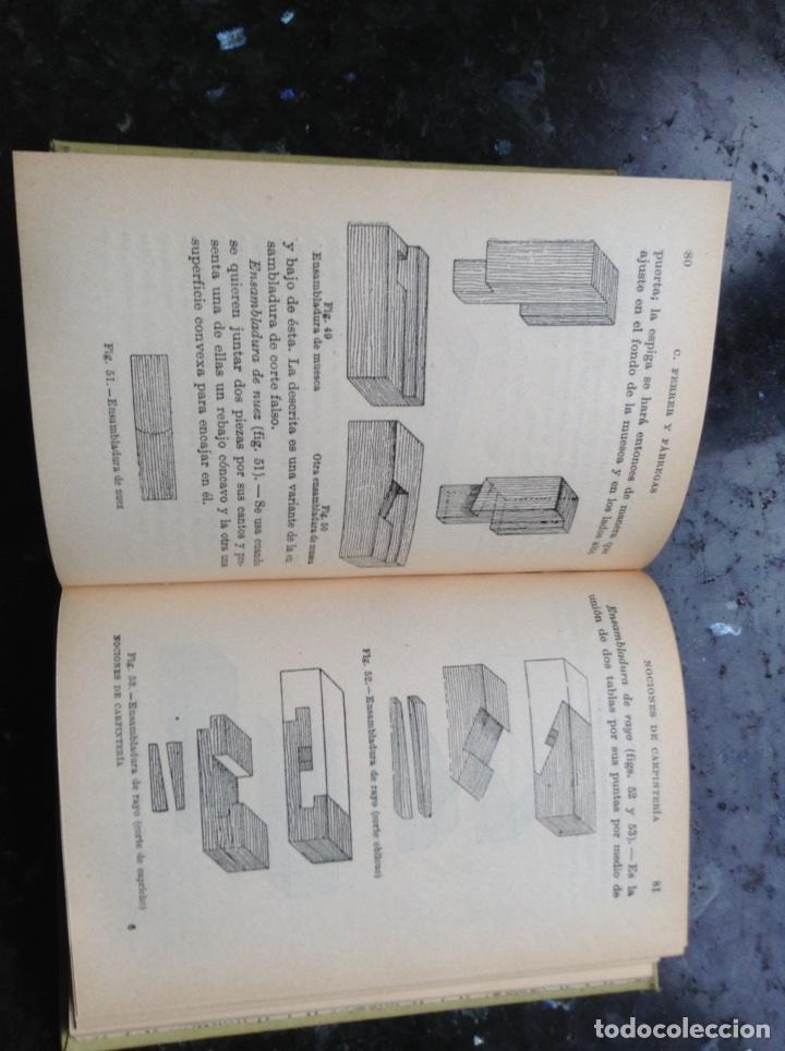 Libros antiguos: Nociones de Carpintería Manuales Gallach - Foto 2 - 108899619