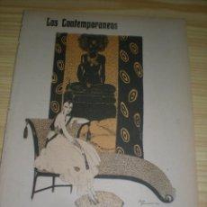 Libri antichi: LOS CONTEMPORÁNEOS: LAS ESMERALDAS DE JOAQUÍN DICENTA ILUST: JOSÉ ZAMORA, 05 MARZO DE 1915 . Lote 108961363