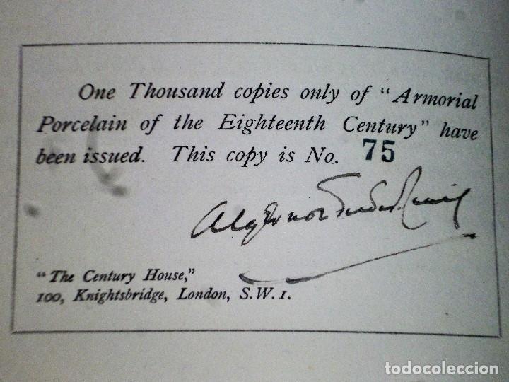 Libros antiguos: ARMORIAL PORCELAIN OF THE EIGHTEeNTH CENTURY (1925) - Foto 3 - 109055747