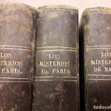 Libros antiguos: LOS MISTERIOS DE PARIS POR MR. EUGENIO SUE. Lote 109073599