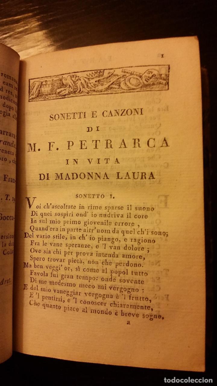 Libros antiguos: 1813 - PETRARCA - RIME - Foto 5 - 109116411