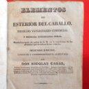Libros antiguos: 1843 * ELEMENTOS DEL EXTERIOR DEL CABALLO * DERECHO Y MEDICINA VETERINARIA * MORFOLOGIA * 371 PAGS. Lote 109161283