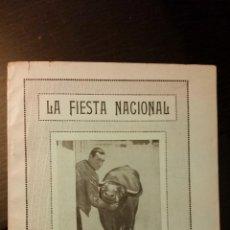 Libros antiguos: 1928 - CLAUDIO SOUSSA - LA FIESTA NACIONAL Ó ANÁLISIS MORAL Y SOCIAL DE LAS CORRIDAS DE TOROS. Lote 109292715