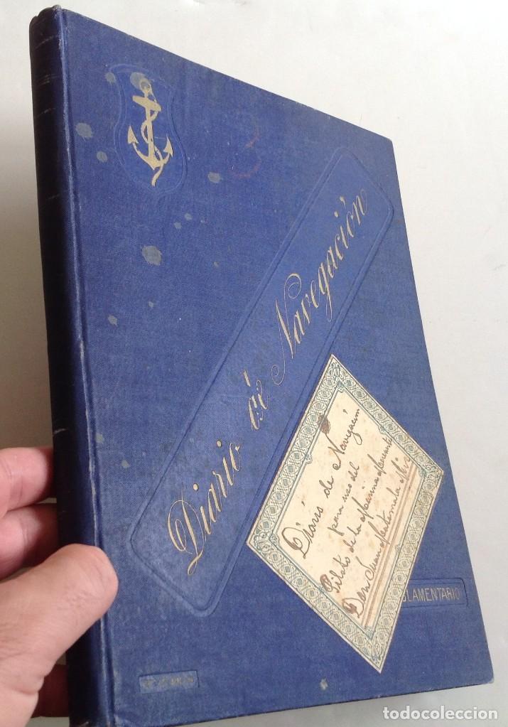1908 DIARIO MANUSCRITO DE NAVEGACION * BARCELONA A HONDURAS Y YUCATAN MEXICO * 196 PAGINAS (Libros Antiguos, Raros y Curiosos - Ciencias, Manuales y Oficios - Otros)