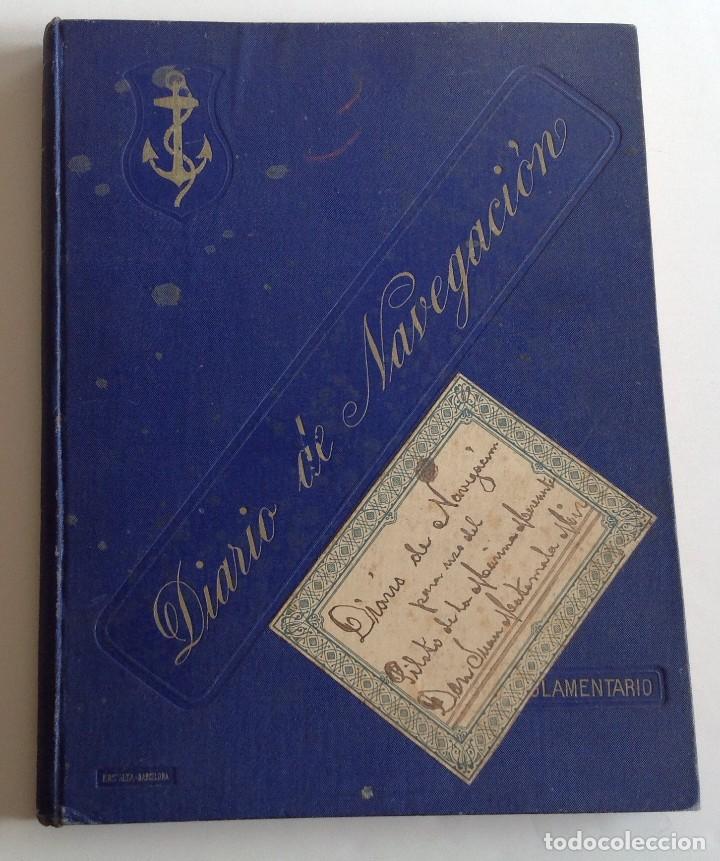 Libros antiguos: 1908 DIARIO manuscrito DE NAVEGACION * Barcelona a Honduras y Yucatan Mexico * 196 paginas - Foto 2 - 109313031