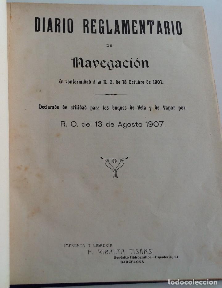 Libros antiguos: 1908 DIARIO manuscrito DE NAVEGACION * Barcelona a Honduras y Yucatan Mexico * 196 paginas - Foto 3 - 109313031