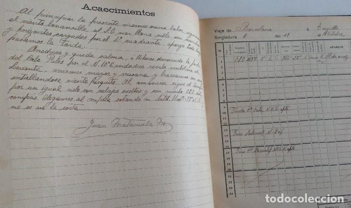 Libros antiguos: 1908 DIARIO manuscrito DE NAVEGACION * Barcelona a Honduras y Yucatan Mexico * 196 paginas - Foto 8 - 109313031