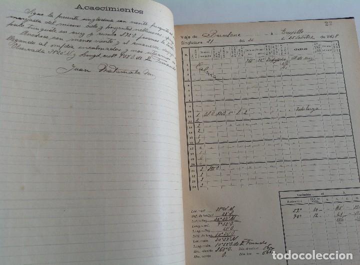 Libros antiguos: 1908 DIARIO manuscrito DE NAVEGACION * Barcelona a Honduras y Yucatan Mexico * 196 paginas - Foto 9 - 109313031