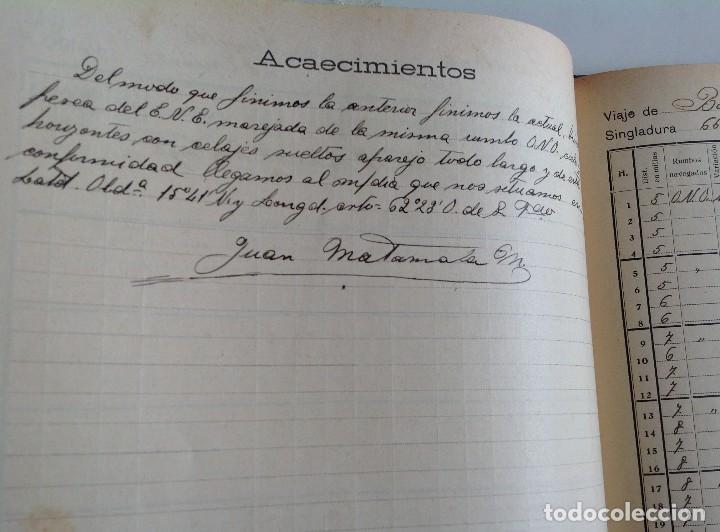 Libros antiguos: 1908 DIARIO manuscrito DE NAVEGACION * Barcelona a Honduras y Yucatan Mexico * 196 paginas - Foto 10 - 109313031