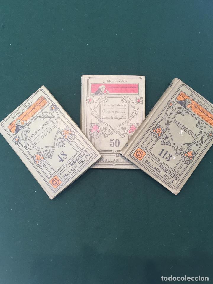 LOTE DE 3 LIBROS DE MANUALES GALLACH (Libros Antiguos, Raros y Curiosos - Ciencias, Manuales y Oficios - Otros)