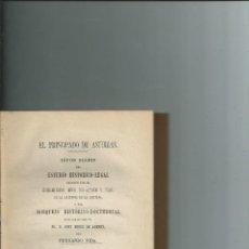 Libros antiguos: EL PRINCIPADO DE ASTURIAS - FERNANDO VIDA - 1880 - CURIOSO EX-LIBRIS. Lote 109374751