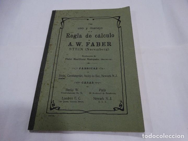 REGLA DE CÁLCULO A.W. FABER STEIN (NUREMBERG) 1909 (Libros Antiguos, Raros y Curiosos - Ciencias, Manuales y Oficios - Otros)