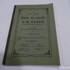 Libros antiguos: REGLA DE CÁLCULO A.W. FABER STEIN (NUREMBERG) 1909. Lote 109471627