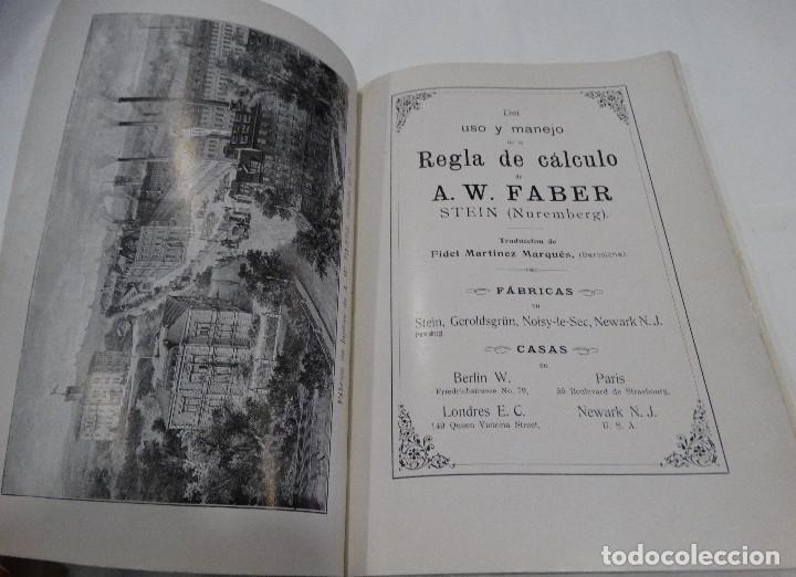 Libros antiguos: REGLA DE CÁLCULO A.W. FABER STEIN (NUREMBERG) 1909 - Foto 2 - 109471627