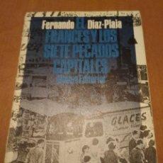 Libros antiguos: EL FRANCÉS Y LOS SIETE PECADOS CAPITALES . Lote 109507255