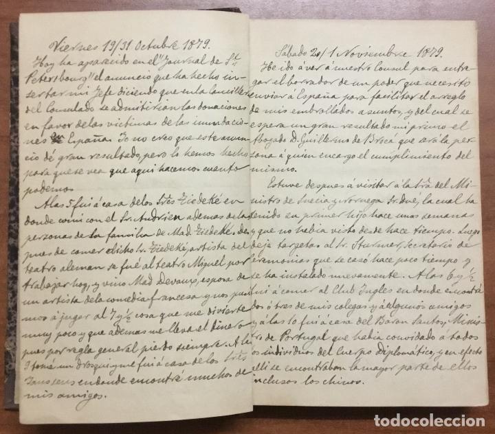Libros antiguos: [Manuscrito] [BARRE DE FLANDES, Agustín de la] SAN PETERSBURGO. LIBRO Nº 3 DE NOTAS E IMPRESIONES... - Foto 3 - 109529351