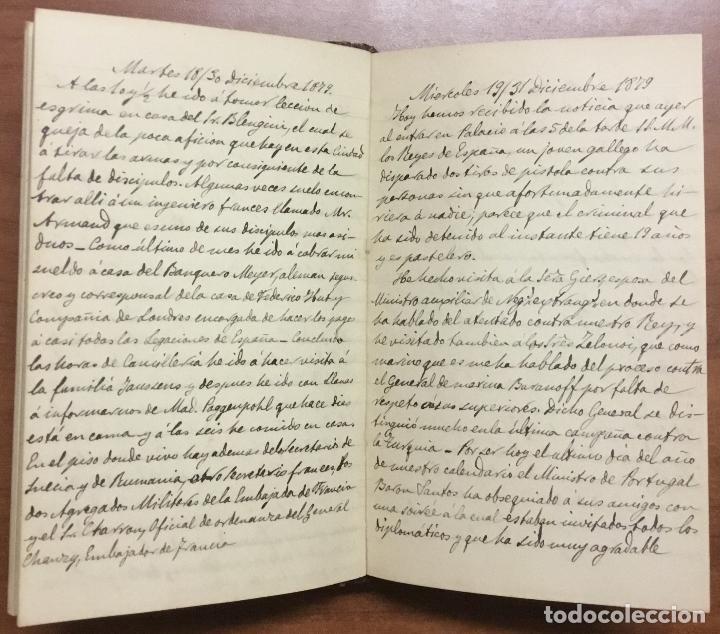 Libros antiguos: [Manuscrito] [BARRE DE FLANDES, Agustín de la] SAN PETERSBURGO. LIBRO Nº 3 DE NOTAS E IMPRESIONES... - Foto 4 - 109529351