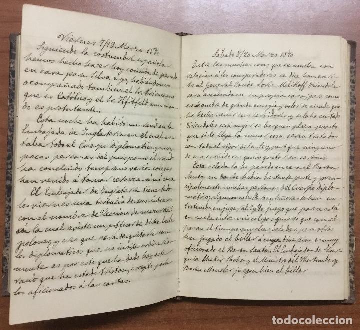 Libros antiguos: [Manuscrito] [BARRE DE FLANDES, Agustín de la] SAN PETERSBURGO. LIBRO Nº 3 DE NOTAS E IMPRESIONES... - Foto 5 - 109529351