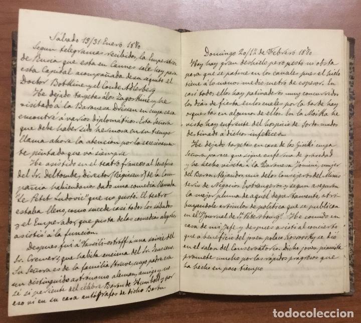 Libros antiguos: [Manuscrito] [BARRE DE FLANDES, Agustín de la] SAN PETERSBURGO. LIBRO Nº 3 DE NOTAS E IMPRESIONES... - Foto 6 - 109529351