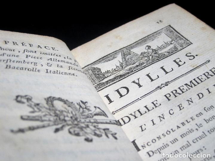 Libros antiguos: Año 1787 París Romances e Idilios de Berquin 2 tomos en un volúmen Grabados entre el texto - Foto 6 - 109541559