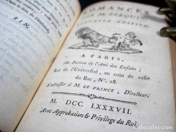 Libros antiguos: Año 1787 París Romances e Idilios de Berquin 2 tomos en un volúmen Grabados entre el texto - Foto 17 - 109541559