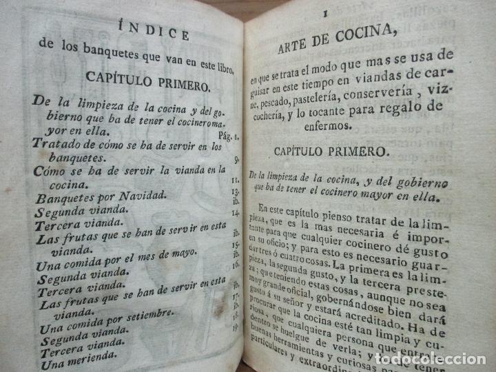 Libros antiguos: ARTE DE COCINA, PASTELERIA, VIZCOCHERIA, Y CONSERVERIA. FRANCISCO MARTINEZ MONTIÑO. 1822. - Foto 5 - 109587235