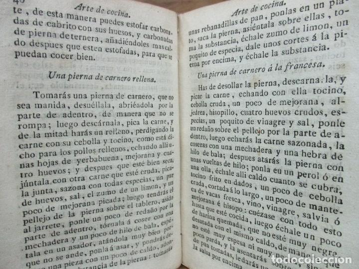Libros antiguos: ARTE DE COCINA, PASTELERIA, VIZCOCHERIA, Y CONSERVERIA. FRANCISCO MARTINEZ MONTIÑO. 1822. - Foto 7 - 109587235
